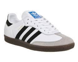 white samba adidas samba og white black og his trainers