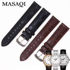 tissot bracelet leather images Masaqi genuine leather strap t085410 427a watch man 39 s band watches jpg