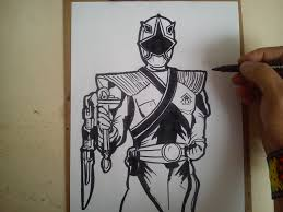 como dibujar power ranger samurai dorado draw power