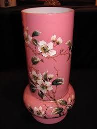 Victorian Glass Vase Antique Victorian Pink Bristol Glass Vases Pair 32 00 Via Etsy