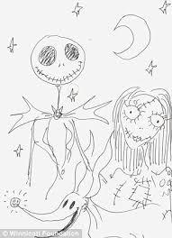 tim burton u0027s doodle takes top bid as stars u0027 sketches fetch