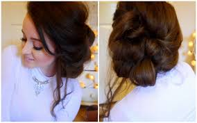 Fancy Updo Hairstyles For Long Hair by Messy Side Updo Hair Tutorial Youtube