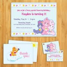 care bears invitation party themes care bears