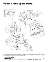 pallet truck repair diagram material handling equipment