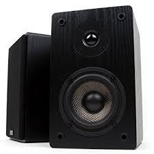 micca mb42 bookshelf speakers with 4 inch carbon fiber