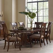 kincaid dining room furniture design center kincaid furniture portolone seven piece trestle table and harp