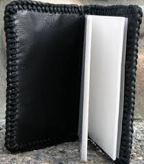 Leather Memory Book Custom Small Hand Tooled Leather Photo Album Memory Book By
