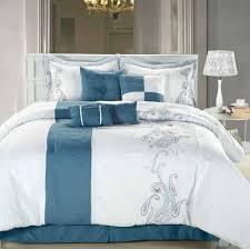 white blue color king size master bedroom comforter sets ideas