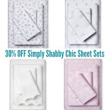 target offering 30 discount on target 30 simply shabby chic sheet sets today only