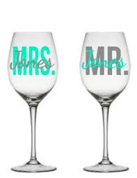 wedding gift glasses set of 2 two personalized mr mrs wine glasses s