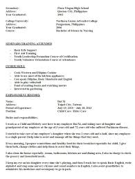 Job Description Resume Nurse by Sample Resume For Nurses With Job Description