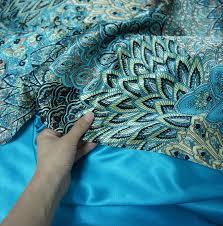 Peacock Feather Comforter Amazon Com Fadfay Home Textile Peacock Feather Bedding Set