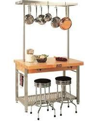 kitchen island pot rack deal alert boos grande kitchen island w pot rack 60 in w