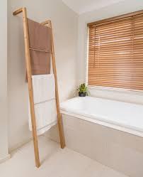 bamboo ladder towel rack 35cm w x 20cm d x 180cm h