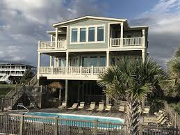 oceanfront house plans large oceanfront home in private estate homeaway holden beach
