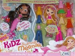 bratz kidz swimming mermaid yasmin snap doll ebay