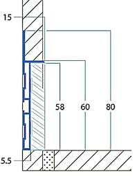 flush baseboard aluminum baseboard molding a section of the wall base with an