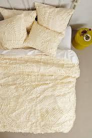 Cream Duvet Cover Full Sliced Pattern Textured Duvet Cover