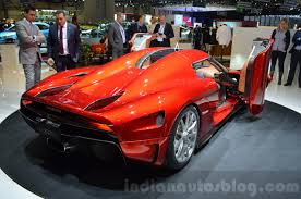 red koenigsegg regera koenigsegg regera rear quarter at the 2016 geneva motor show live