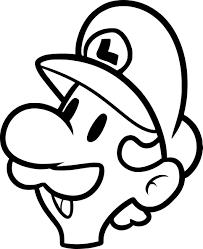 Coloriage Masque Luigi à imprimer sur COLORIAGES info