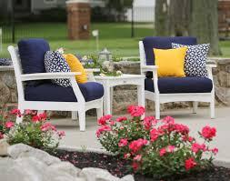 Sunbrella Patio Furniture Sets - poly lumber 3 piece classic terrace deep seating set w sunbrella