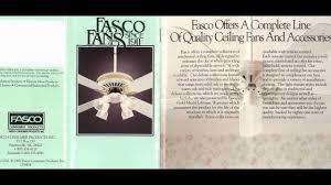 fasco fan motor catalogue fasco f a smith company ceiling fan catalog from 1992 small