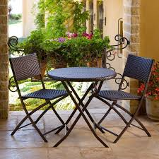 outdoor bistro table and chairs piece outdoor bistro patio furniture set in espresso