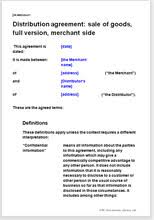 reseller contract template distribution agreement distributor contract templates
