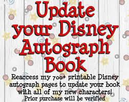 disney autograph album disneyland autograph pages walt
