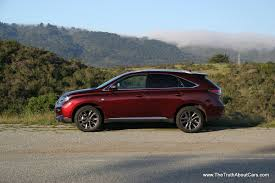 lexus hybrid suv 7 seater review 2013 lexus rx 350 f sport video the truth about cars