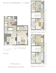 5 room house plan drawing sale pleasant design two master bedroom