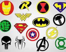 superheroes logos etsy