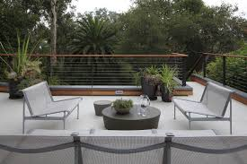 horizontal deck railing contemporary with ipe decking outdoor sofas