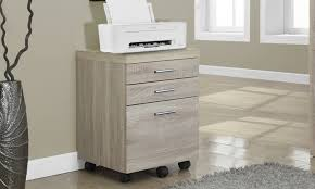 3 drawer file cabinet on casters groupon goods