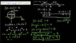 sketching the locus of a complex number in argand plane youtube