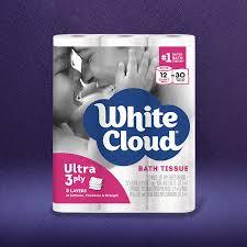White Cloud Bathroom Tissue - bath tissue