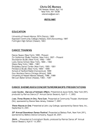 Ballet Resume Bachelor Thesis Marketing Mix Appraiser Trainee Resume Sample