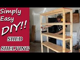 Building Wood Shelves In Shed by Diy Shed Shelves Youtube