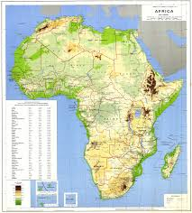 Africa Maps by Africa Physical Map 1988