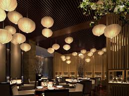 chinese restaurant interior design oriental style suspension with
