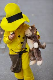 Curious George Halloween Costumes Daughter Man Yellow Hat Huge Hit Costume