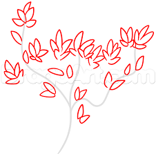 how to draw a spring tree step by step trees pop culture free