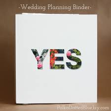 Wedding Planner Binder Wedding Planning And Organizing Polka Dotted Blue Jay