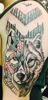 geometric shift wolf tattoo by ty u0027esha reels wyld chyld in