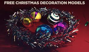 Free Christmas Decorations Free C4d 3d Model Christmas Decorations The Pixel Lab