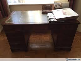 bureau en acajou grand bureau plat acajou cuir anglais modèle à caissons a