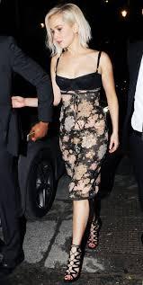 jennifer lawrence u0027s lingerie like party dress instyle com