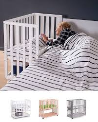 Next To Bed Crib Childwood Co Sleeping Bedside Crib With Wheels 90x50 Cm Beech