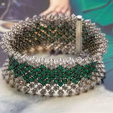emerald bracelet white gold images Asprey 18k white gold diamond emerald bracelet com552 second jpg