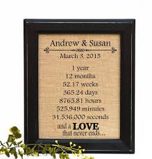 best anniversary gifts for 11 best anniversary burlap prints images on unique